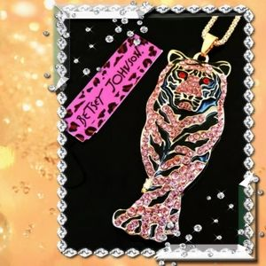 Betsey Johnson Tiger Necklace